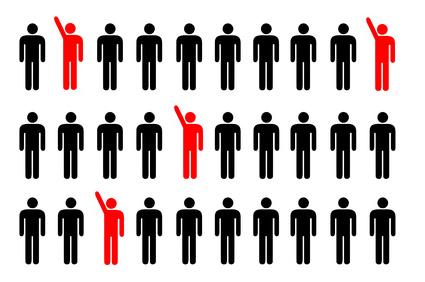 lead = alzare la mano